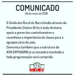 comunicado sindicato rural barrolandia