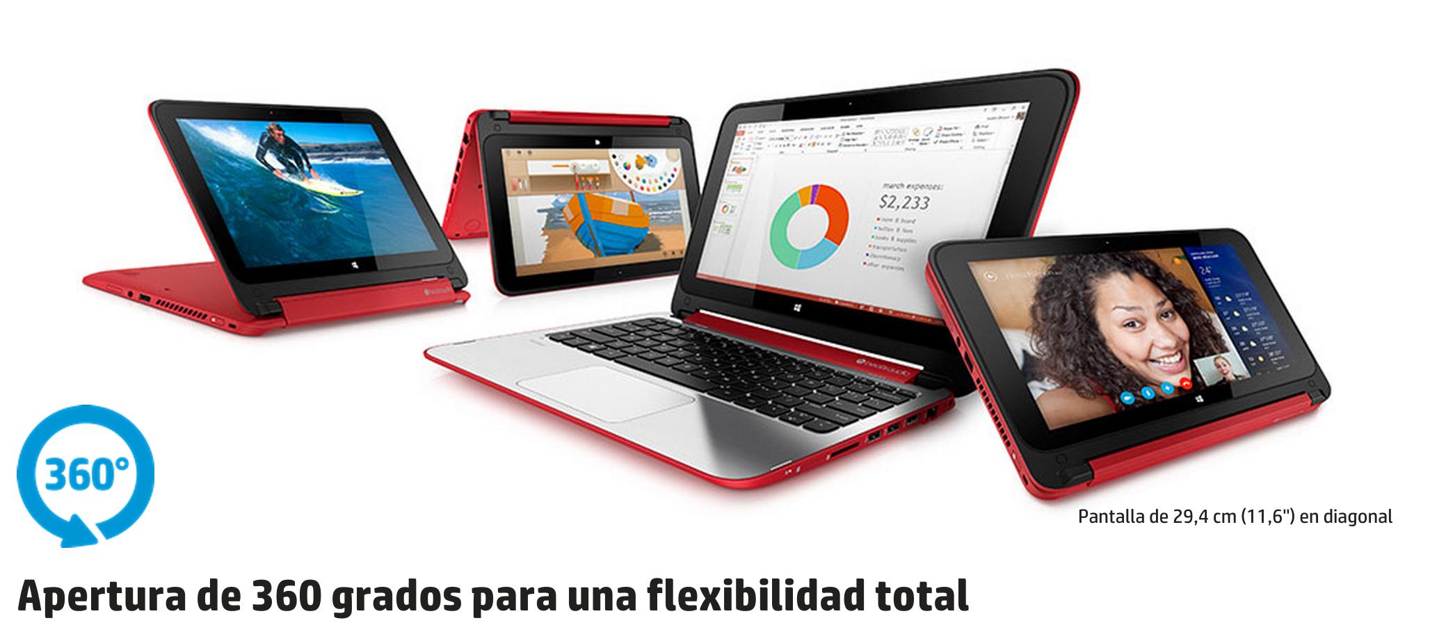 Convertible HP Pavillion x360, nueva colaboración de HP para el proyecto Moving Liquid Galaxy 2, versión Windows Peruse-a-rue #liquidgalaxy