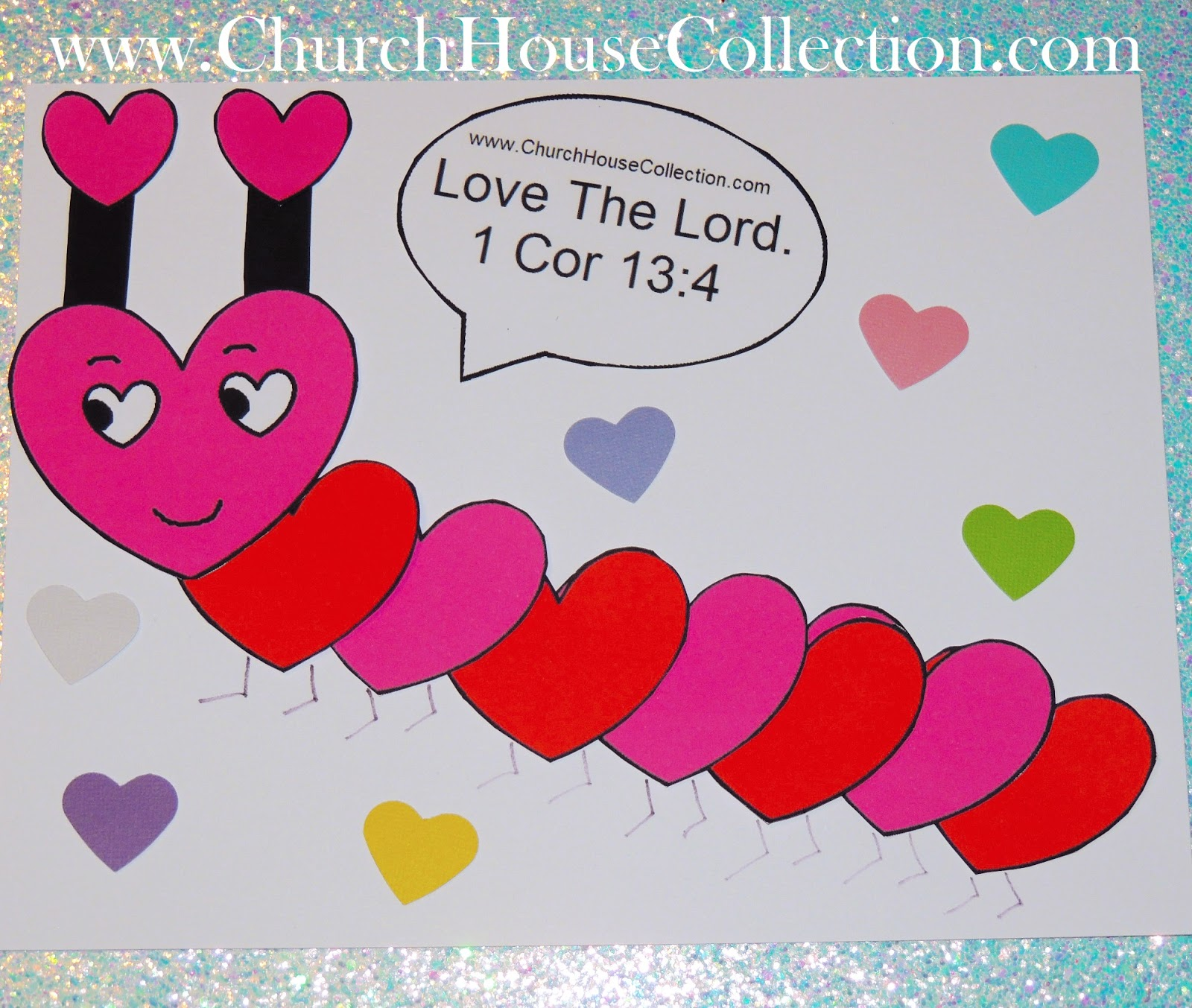 Church House Collection Blog Heart Caterpillar Valentine