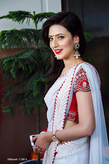 Bidya Sinha Saha Mim Hot In White Saree