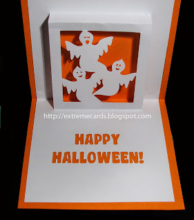 silhouette of ghost in card