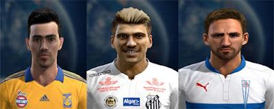 Faces: Lucas Zelarayan, Lucas Lima, Fuenzalida, Pes 2013