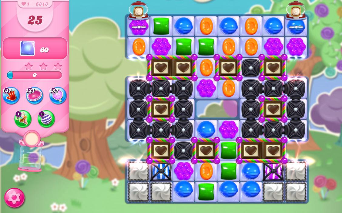 Candy Crush Saga level 5818