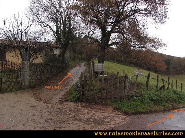 Ruta de las Xanas y Senda de Valdolayés: Desvío para Peña Rey de la Senda de Valdolayés