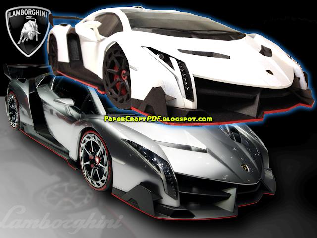 Lamborghini Veneno Roadster Papercraft Download Papercraft Templates