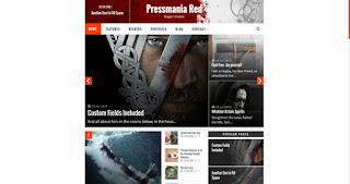 Pressmania Red - responsive magazine blogger template