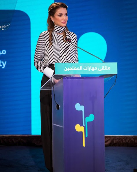 Queen Rania Urges Educators to Teach Values of Peace and Co-existence at Teacher Skills Forum