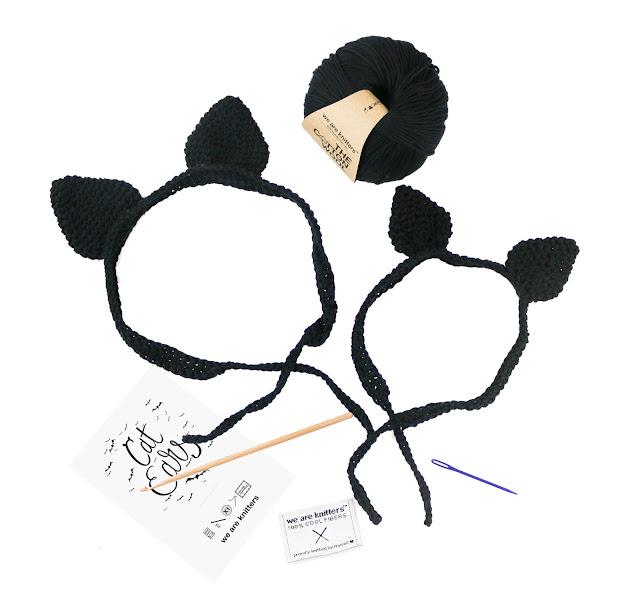 Patrón gratis orejas de gato trícot