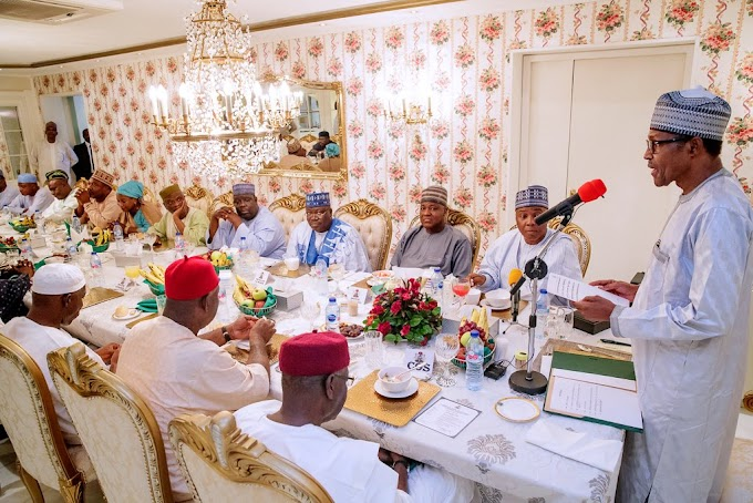 What Buhari told Saraki, others after meeting at Aso Rock