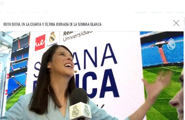 Entrevista de Ruth Betia despues del acto del Real Madrid