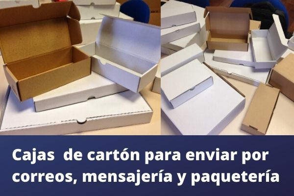Cajas  de cartón para enviar por correos, mensajería y paquetería