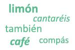 Ejemplos de palabras agudas con tilde