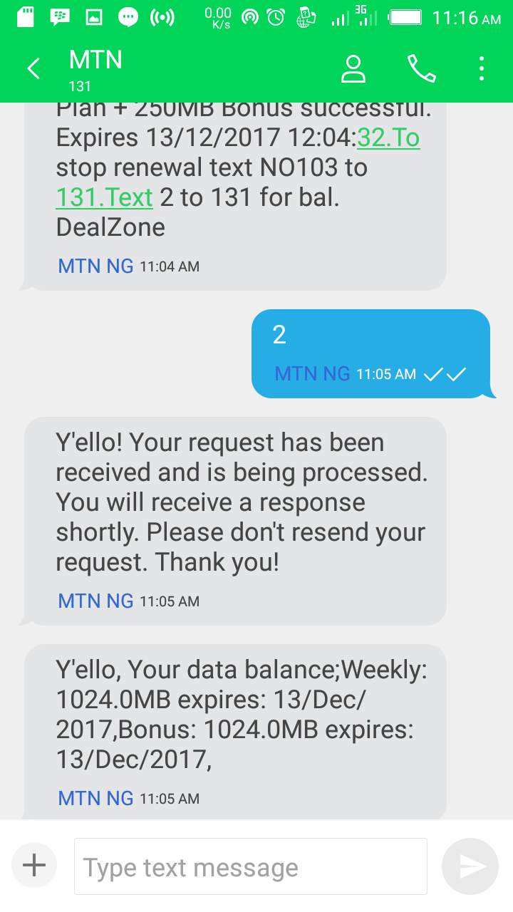 MTN 2GB For N500
