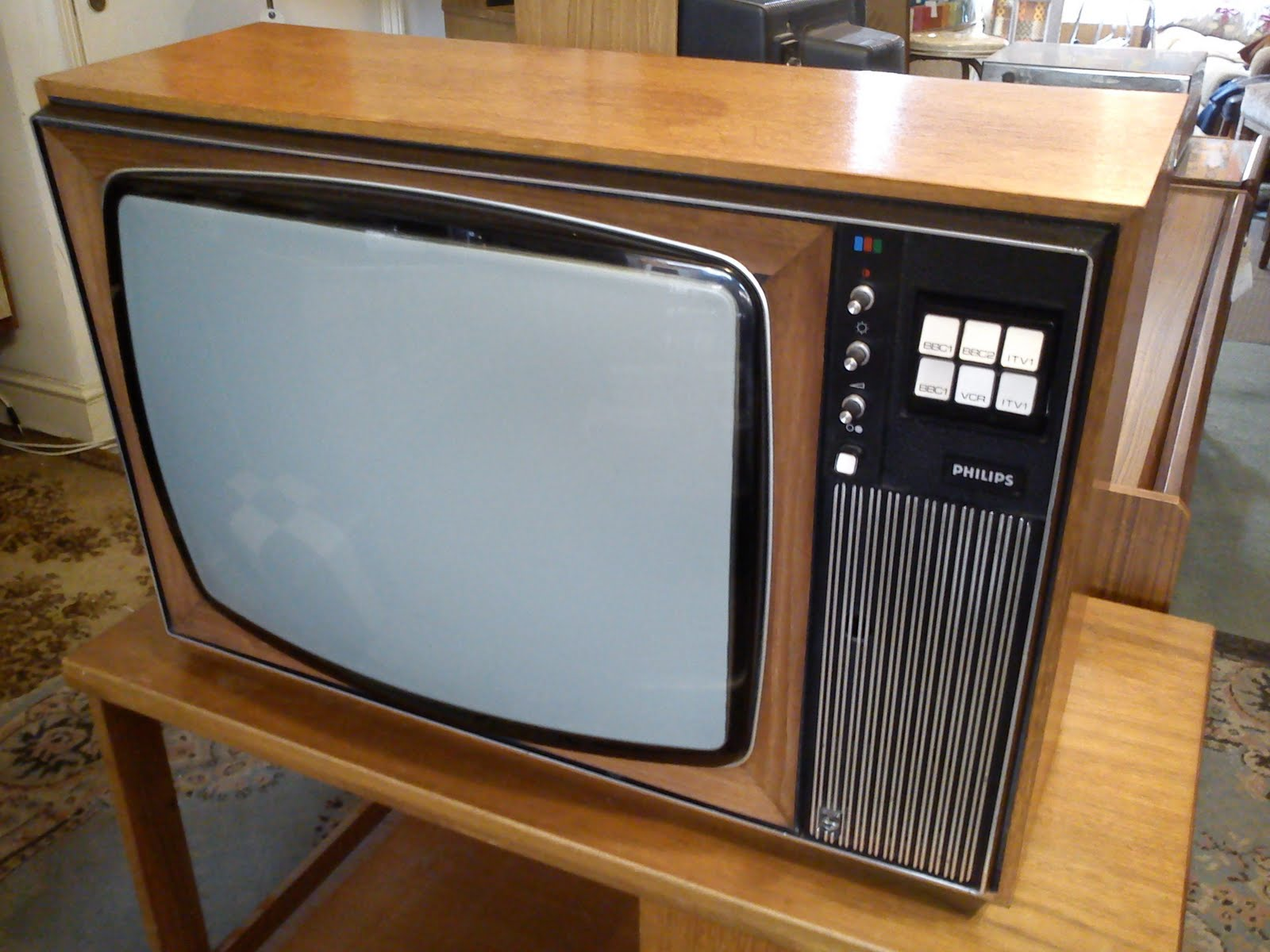 Tv Sets From 1970s: Philips Television Set 1970s