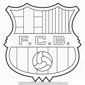 Emblem Of Fc Barcelona Coloring