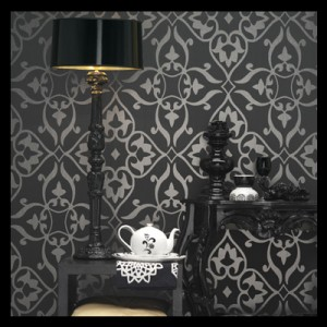 Dramatic metallic with gothic wallpaper for home Best home