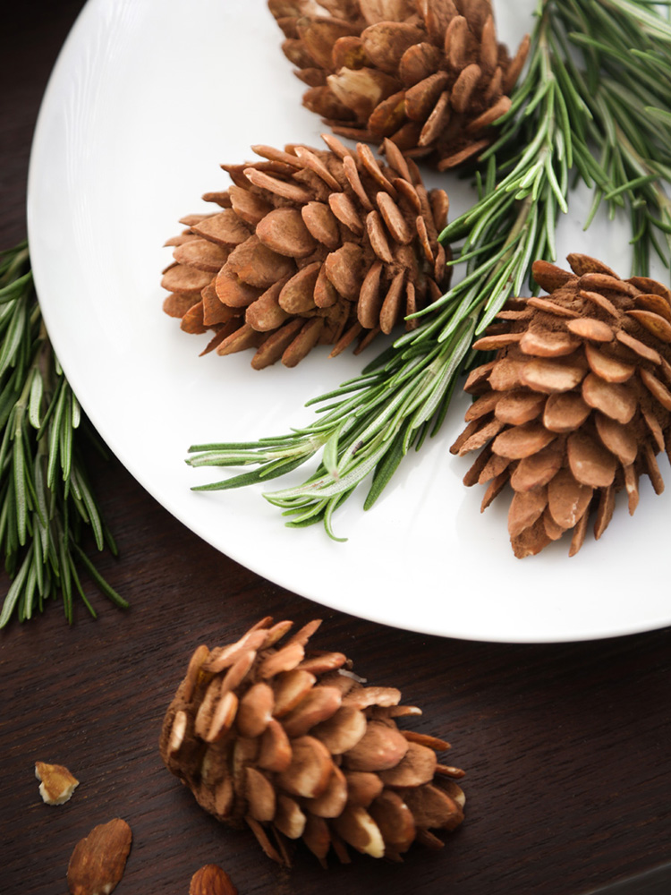 Diy Edible Almond Pinecones For The Etsy Blog Sprinkle