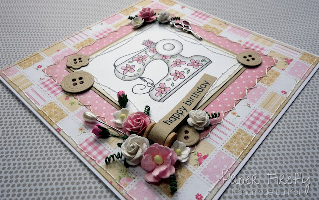 Handmade sewing themed card