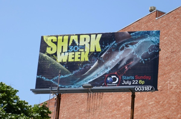 30th Shark Week billboard