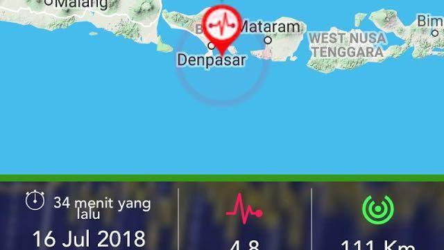 Gempa 4,8 SR Guncang Bali, Tidak Berpotensi Tsunami