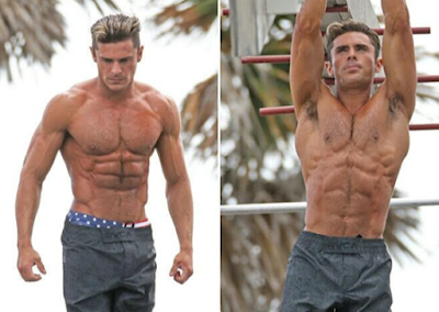 Zac Efron on the set of Baywatch