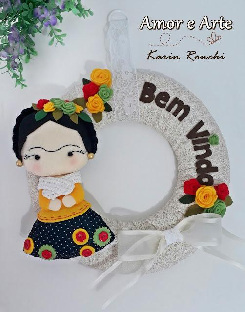 Guirlanda Bem Vindo om o tema Frida Kahlo!