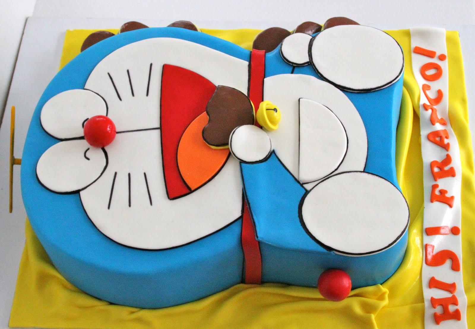 Doraemon Happy Birthday Cake