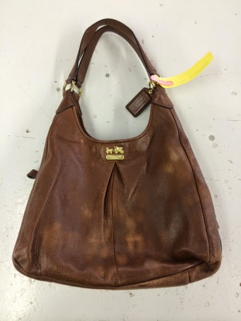 Leather Cleaning Re Dyeing And Restoration Coach Purse Red