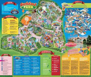 Plano del parque de atracciones Gardaland.