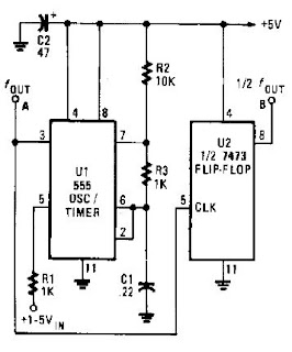 Electronic Circuits for Beginners: 555 simple VCO