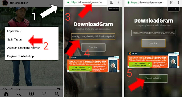 Cara Download Video di Instagram memggunakan hp