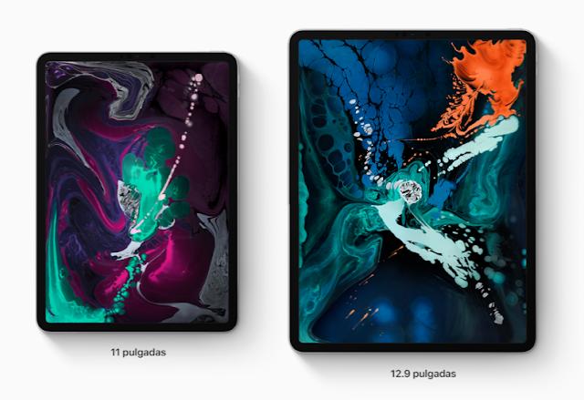 Dos tamaños de iPad, 11 y 12,9 pulgadas