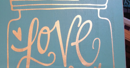 Love More, Worry Less Wooden Sign