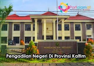 Alamat Kantor Pengadilan Negeri Di Provinsi Kalimantan Timur