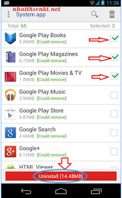 Xóa và gỡ bỏ ứng dụng hệ thống trên điện thoại android quá dể 2015