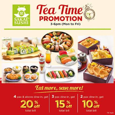Sakae Sushi Malaysia Tea Time Promo
