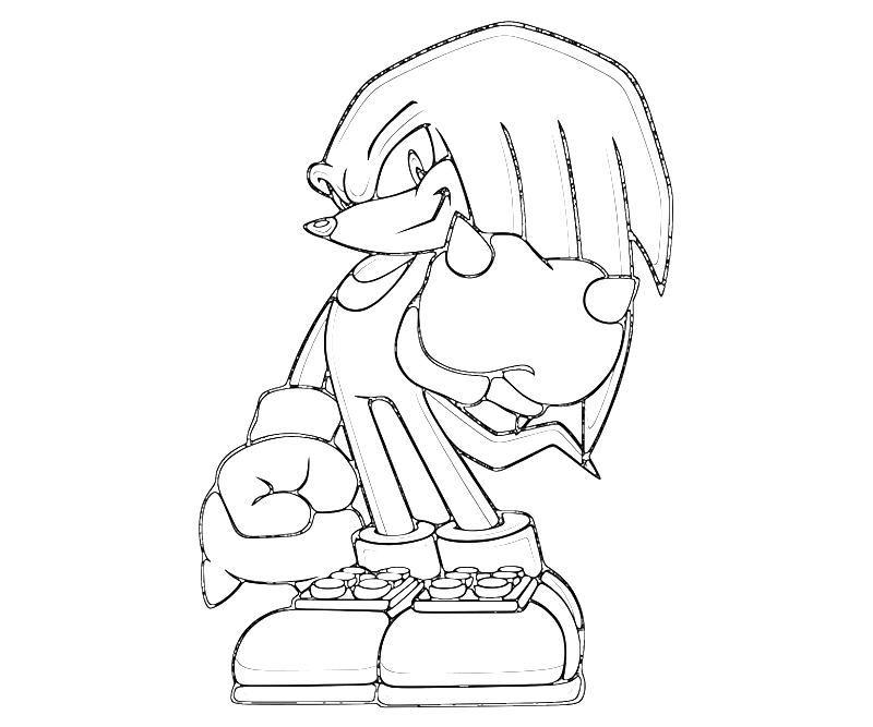 Knuckles And Sonic Coloring Pages