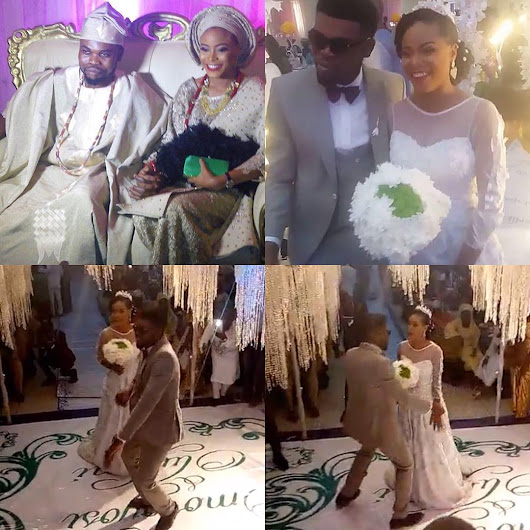 Comedian Omobaba ties the knot with his partner, Toyosi
