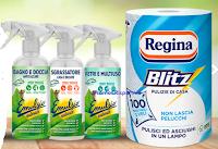 Logo Real Time ''Fenomeni del Pulito'': vinci gratis buoni sconto, codici Infinity, forniture di prodotti Regina e...