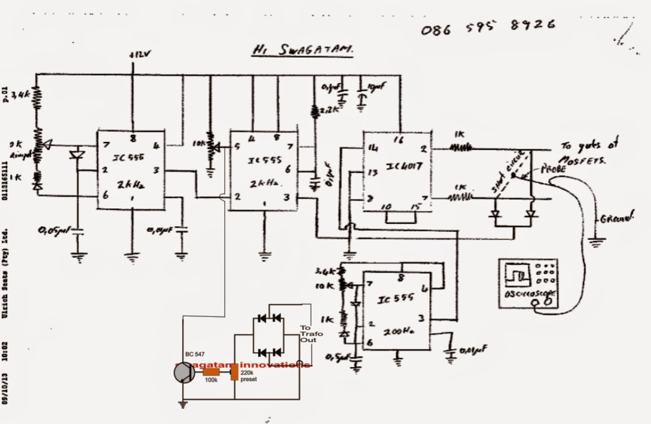 Pure Sine Wave Inverter Circuit Using Ic
