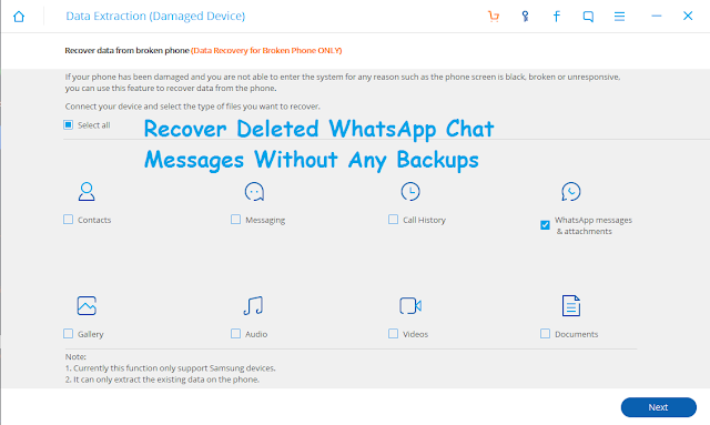 Recover Deleted WhatsApp Chat messages without any backups