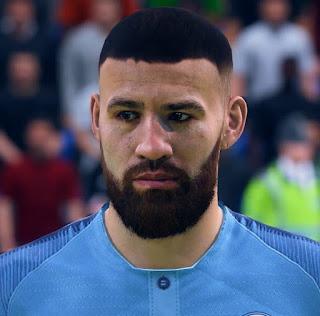 FIFA 19 Faces Nicolás Otamendi by CrazyRabbit