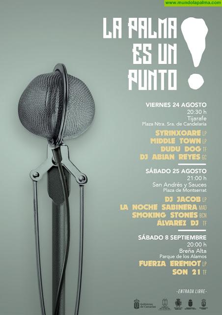 El Cabildo celebra una nueva edición del Festival 'La Palma es un Punto', con conciertos en tres municipios