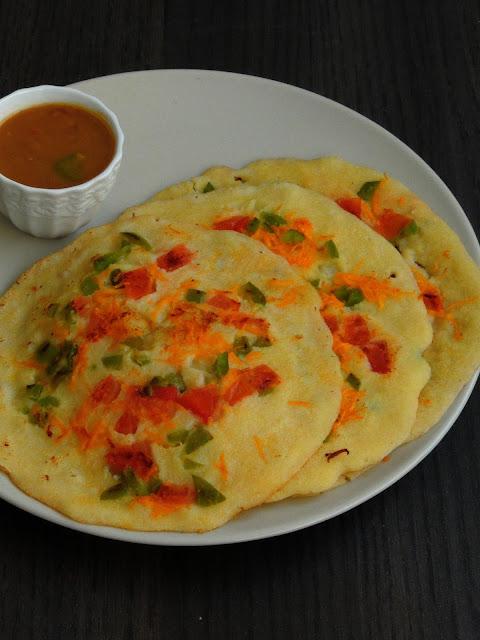 Vegetable Cornmeal Othappam