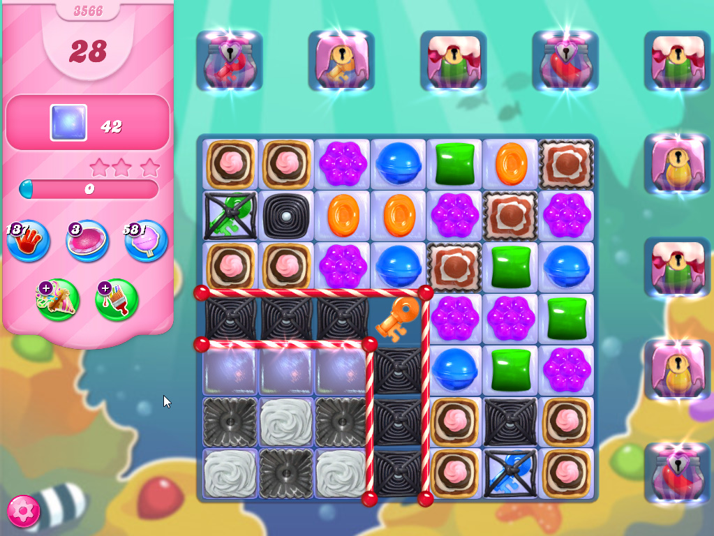 Candy Crush Saga level 3566