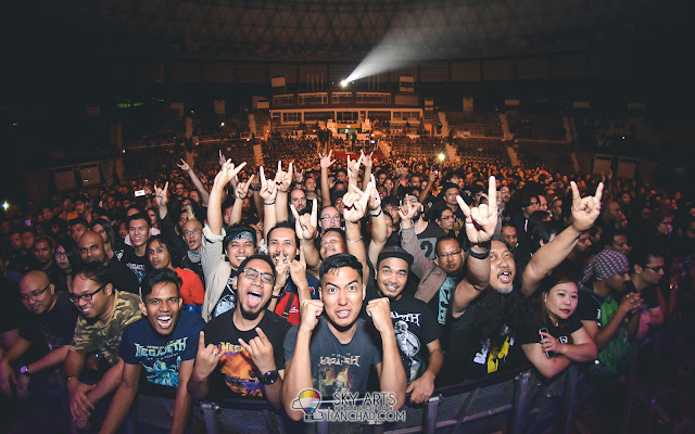 MEGADETH LIVE IN MALAYSIA 2017 STADIUM NEGARA Concert Photo amazing crowd TCFisheye