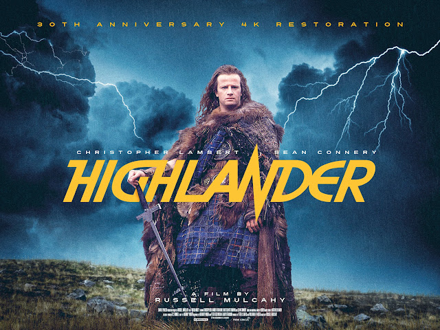 Highlander 30th Anniversary 4k Restoration Release Poster