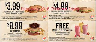 Burger King coupons december 2016