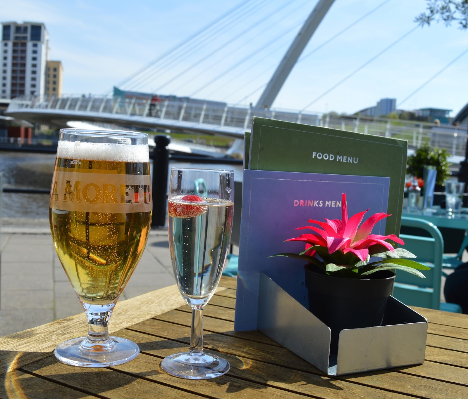 10 Places To Visit | Newcastle - Gateshead Quayside - Drinks outside at Pitcher and Piano