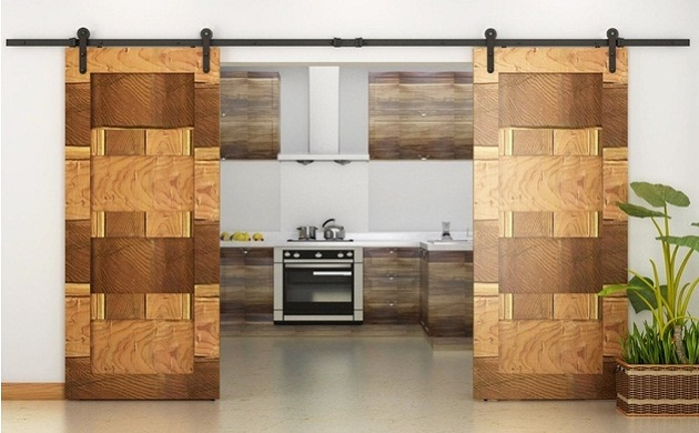 China Modern Simple Designs Solid Wood Barn Sliding Door China Interior Wood Door Wood Glass Door Design